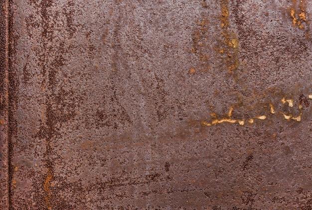 Fundo de textura de metal. superfície de metal plana enferrujada velha.