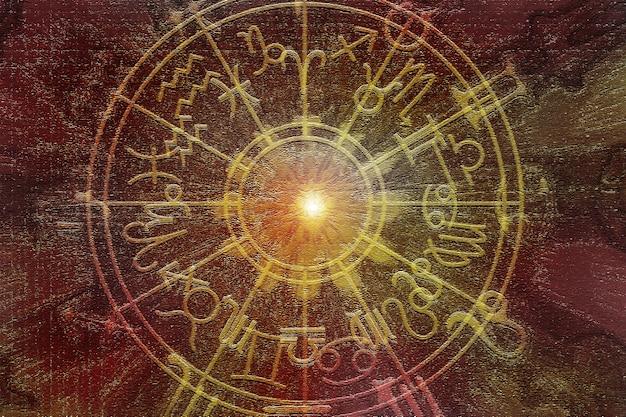 Fundo de textura de padrão de horóscopo astrológico, design gráfico