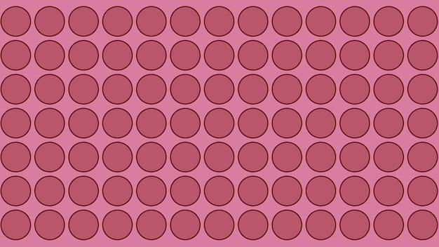Fundo de textura de padrão sem emenda de círculo de pontos rosa, papel de parede macio borrado