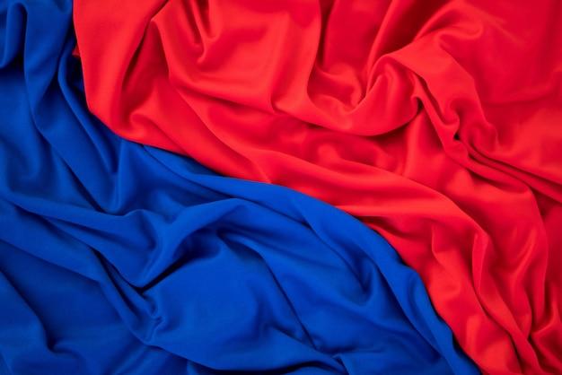 Fundo de textura de pano vermelho e azul