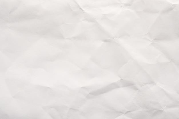Fundo de textura de papel amassado branco abstrato