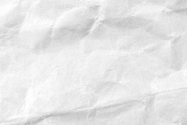 Fundo de textura de papel amassado branco. fechar-se.