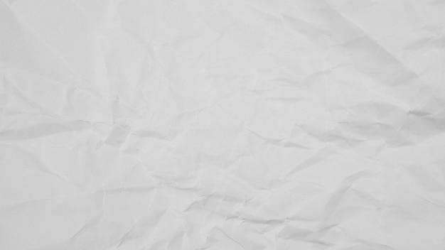 Fundo de textura de papel amassado branco