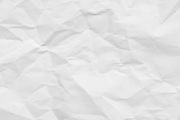 Fundo de textura de papel amassado branco.