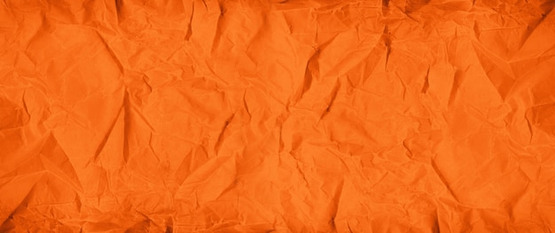 Fundo de textura de papel amassado laranja