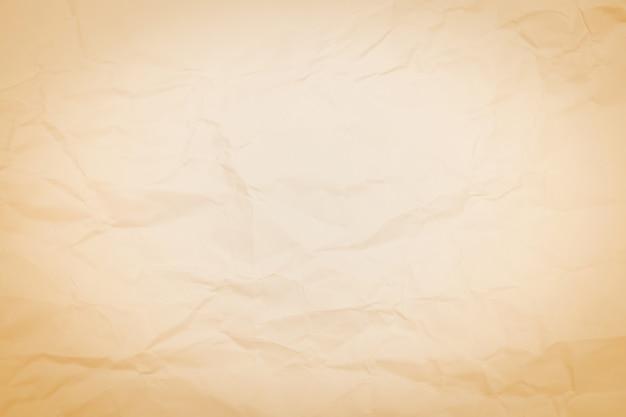 Fundo de textura de papel amassado marrom, enrugada