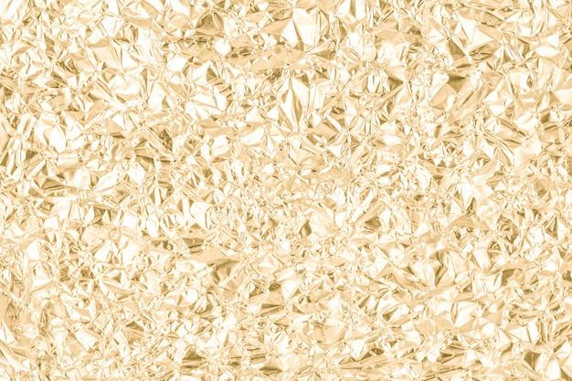 Fundo de textura de papel amassado ouro