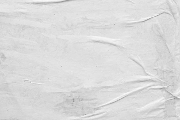 Fundo de textura de papel branco amassado e amassado em branco