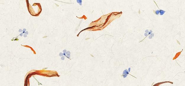 Fundo de textura de papel de pétala de flor artesanal