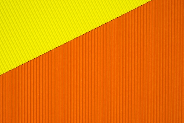 Fundo de textura de papel ondulado amarelo e laranja