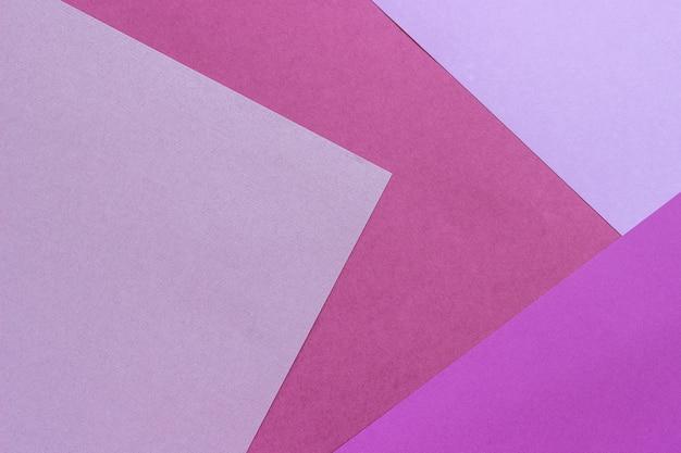 Fundo de textura de papel, padrão geométrico abstrato de cores violetas roxas rosa para design