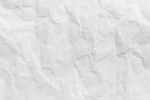 Fundo de textura de papel reciclado amassado branco para o projeto.