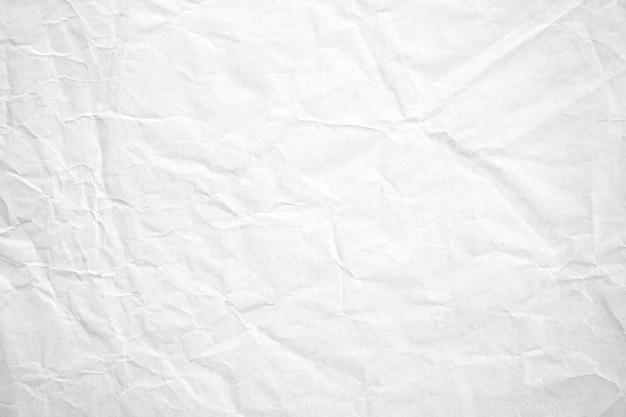 Fundo de textura de papel reciclado amassado branco