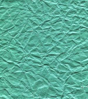 Fundo de textura de papel verde amassado
