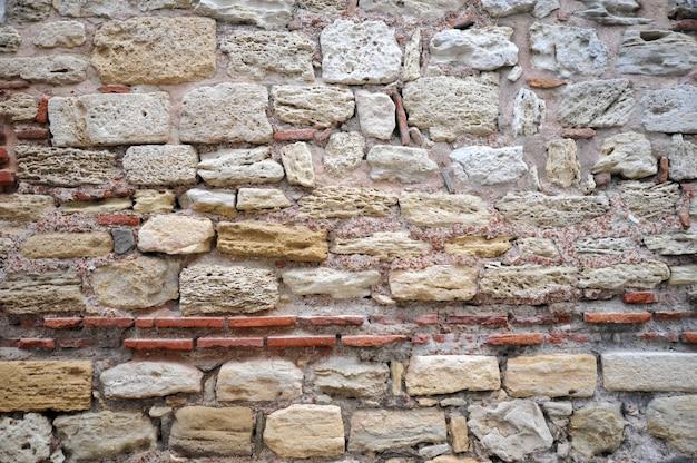 Fundo de textura de parede de fortaleza