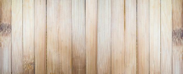 Fundo de textura de parede de prancha de madeira de bambu