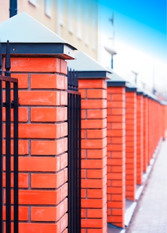 Fundo de textura de parede de tijolo vermelho vertical hd