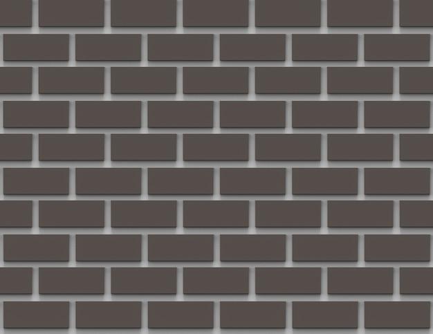 Fundo de textura de parede de tijolos de cor cinza escuro sem emenda
