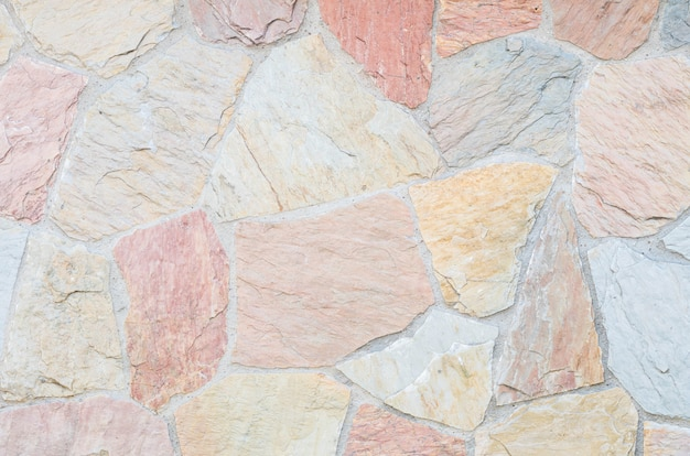 Fundo de textura de parede de tijolos de pedra bonita closeup