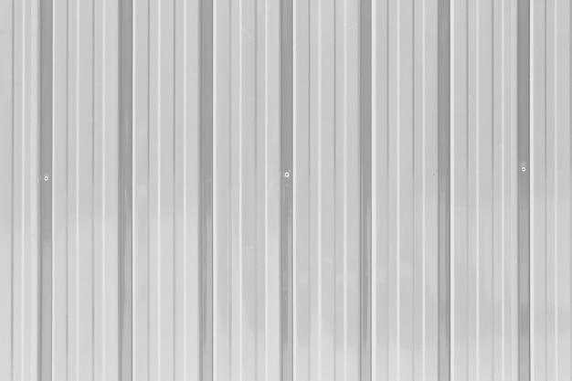 Fundo de textura de parede de zinco branco.