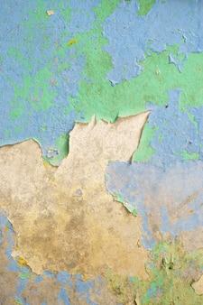 Fundo de textura de parede suja velho azul e verde