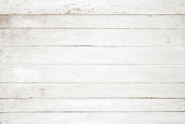 Fundo de textura de parede vintage de madeira pintado de branco