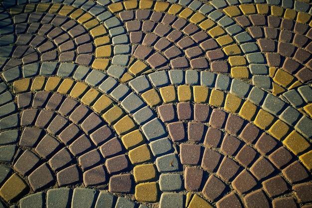 Fundo de textura de pavimento em arco esférico