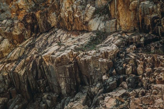Fundo de textura de penhasco afiado de penhascos de pedra