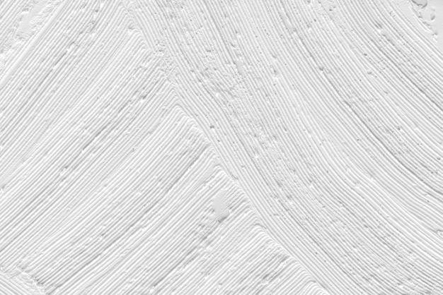 Fundo de textura de pincelada branca abstrata
