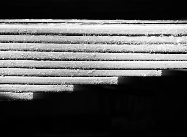 Fundo de textura de placas de metal preto e branco horizontal hd