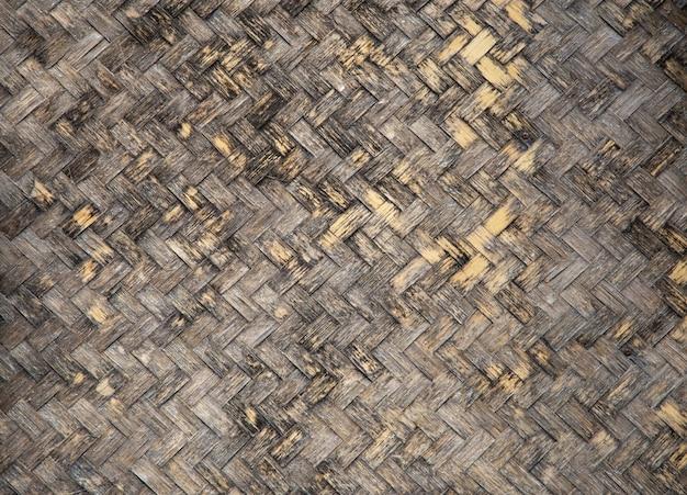 Fundo de textura de rattan de bambu sujo