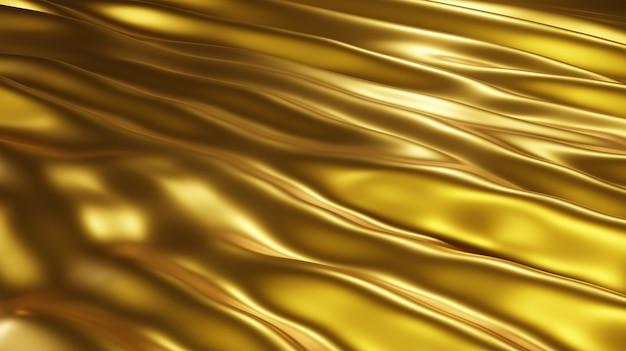 Fundo de textura de seda dourada de luxo e fortuna