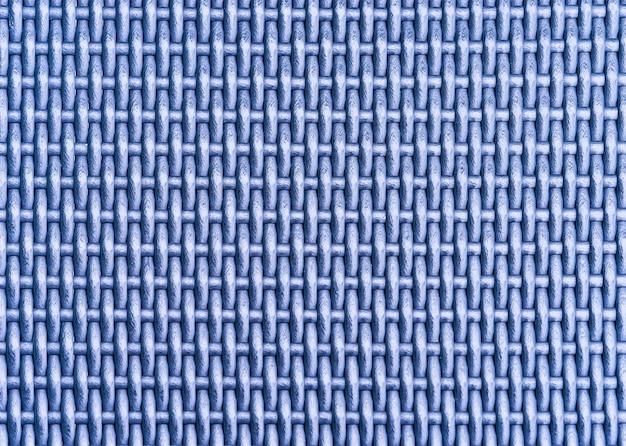 Fundo de textura de superfície azul padrão de tecelagem