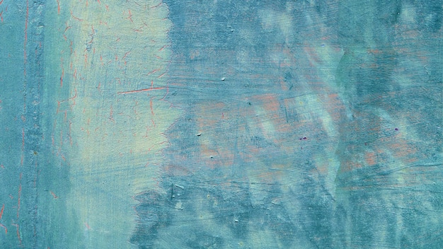 Fundo de textura de superfície pintada de azul desgastado