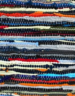 Fundo de textura de tapete de retalhos artesanal