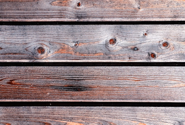 Fundo de textura de tapume de madeira vintage horizontal