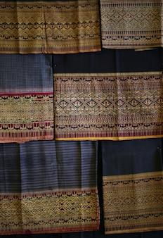 Fundo de textura de tecido de algodão vintage, estilo tailandês