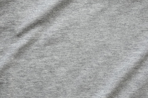 Fundo de textura de tecido de camisa cinza