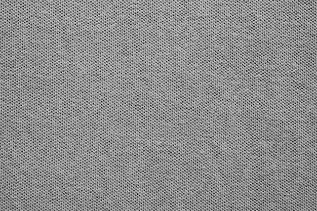 Fundo de textura de tecido de camisa de algodão cinza
