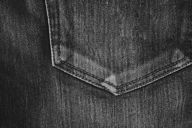 Fundo de textura de tecido de jeans preto