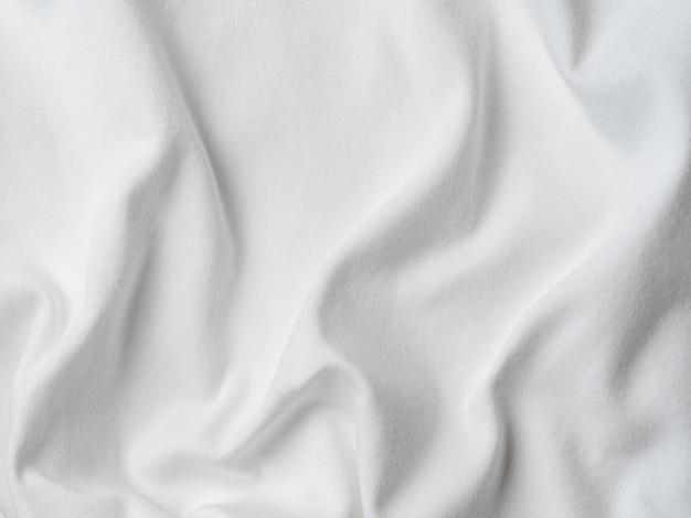 Fundo de textura de tecido de jersey de algodão branco