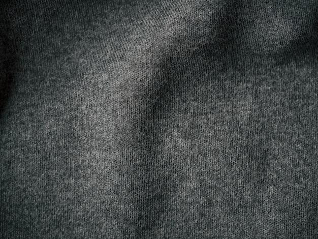 Fundo de textura de tecido de jersey de algodão cinza