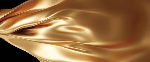 Fundo de textura de tecido dourado renderização 3d