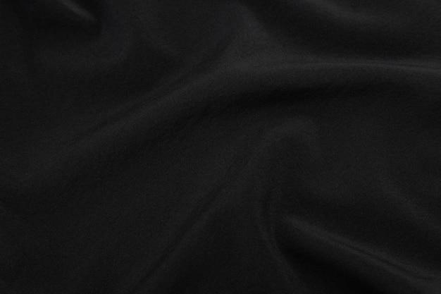 Fundo de textura de tecido preto