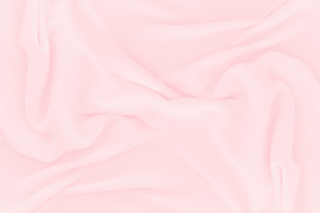 Fundo de textura de tecido rosa suave. seda de pano abstrata para papel de parede ou pano de fundo