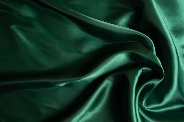 Fundo de textura de tecido verde, abstrato, textura closeup de pano