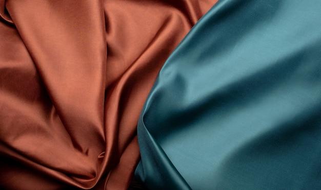 Fundo de textura de tecido verde e marrom
