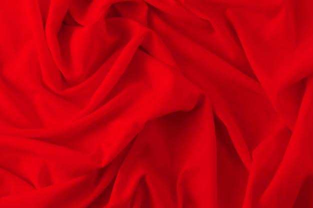 Fundo de textura de tecido vermelho