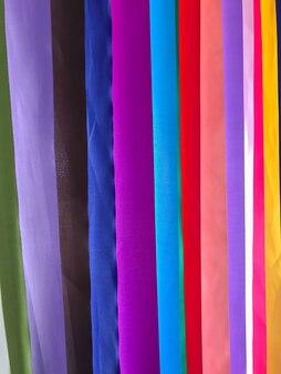 Fundo de textura de tecidos coloridos