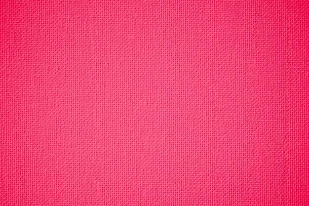 Fundo de textura de tela de cor vermelha